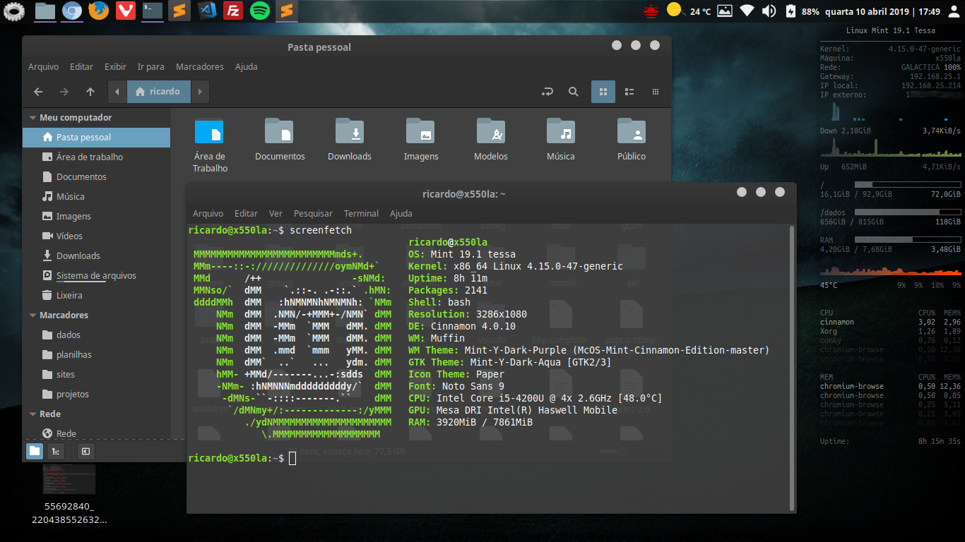 Conky Linux Mint 19.1